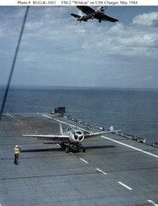 Atlantic scheme FM-2s landing aboard the
