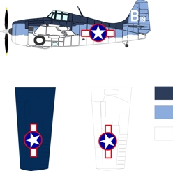 Grumman/Eastern FM-2 three color color scheme and