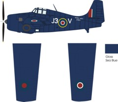 Grumman Wildcat VI late war fleet air arm color