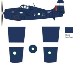 Grumman Wildcat VI late war color scheme and