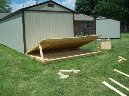 We Knew From Our Experience With The Lawnmower House That The Wall With  Sheeting On It Was Going To Be Heavy. We Had Been Able To Lift The Walls To  That ...