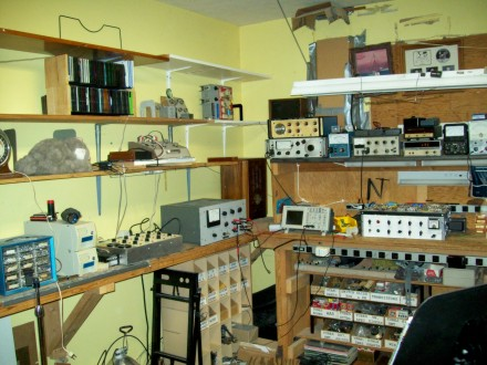 This was the temporary solution to the storage problem. The small parts storage had been moved to the swing out storage. The Target cabinet from under the ... & A New Electronics Workbench and More More.