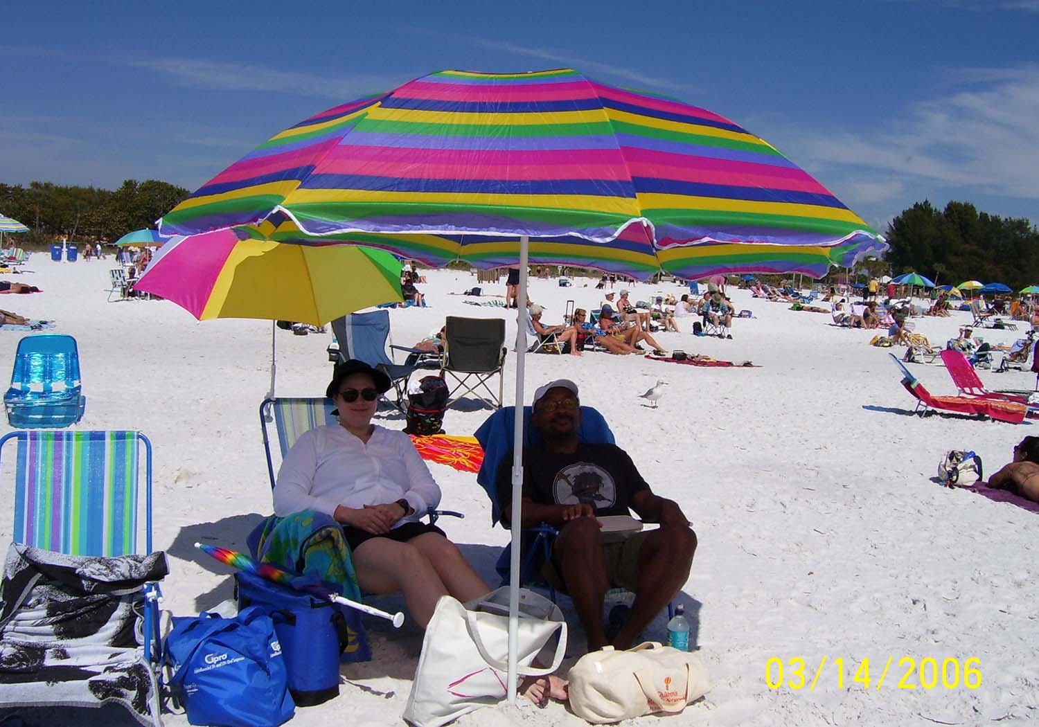 mr. and mr. macedonia at siesta key beach, florida, march 2006