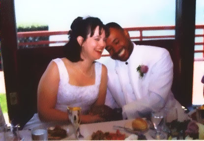 the bride and groom.  september 18, 1999.
