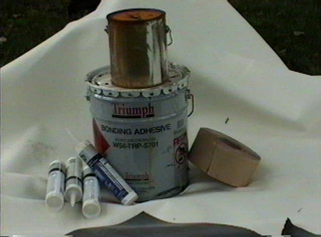 R V White Rubber Roof Kit