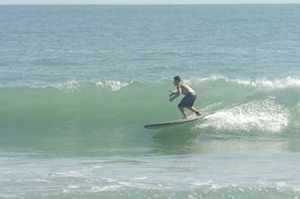 SUP surf behind the house - Click pic for more