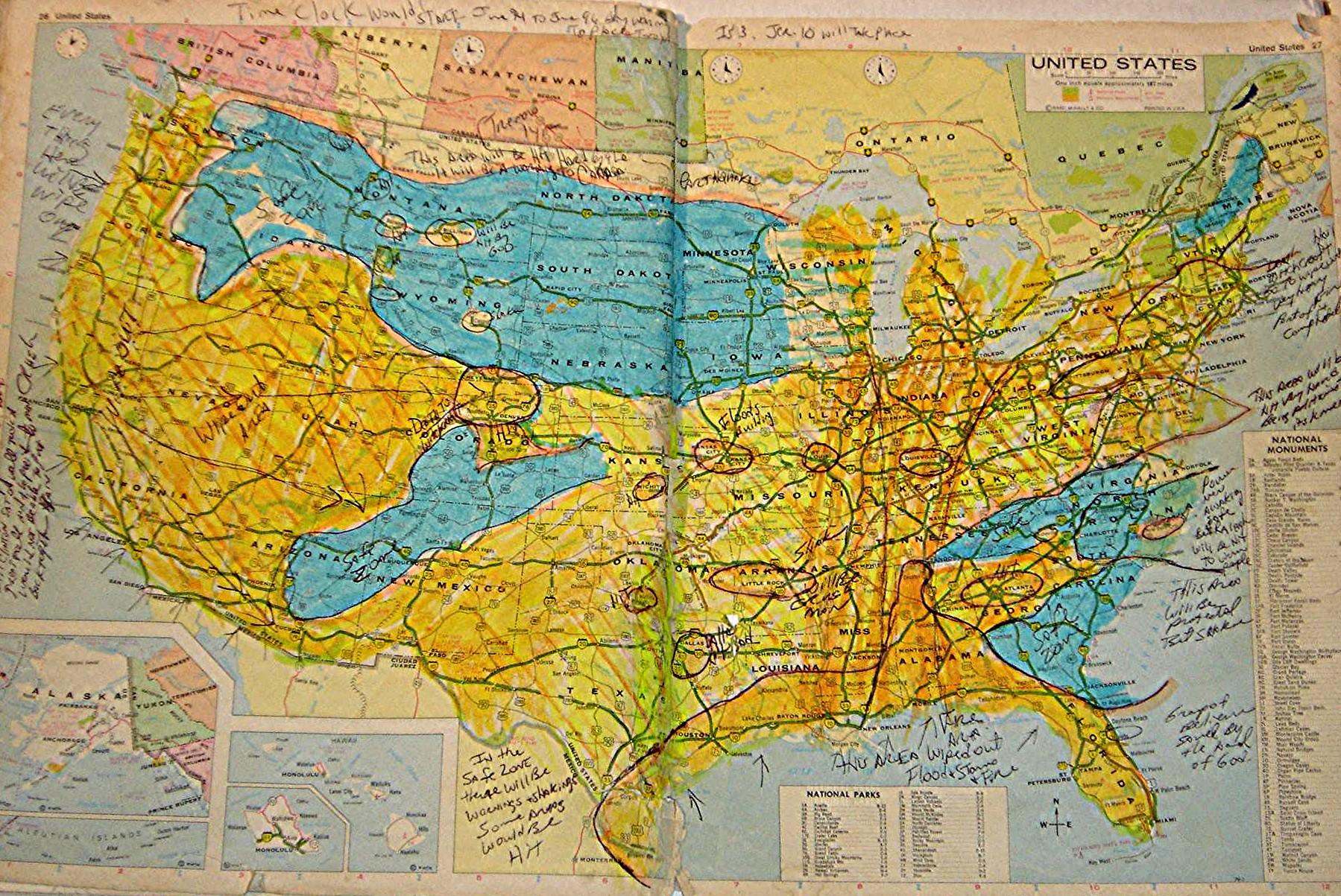 MAPVIEWGAMMADIM VISIONUSAPROPHETCOMStephen L Bening - Map of usa with zones