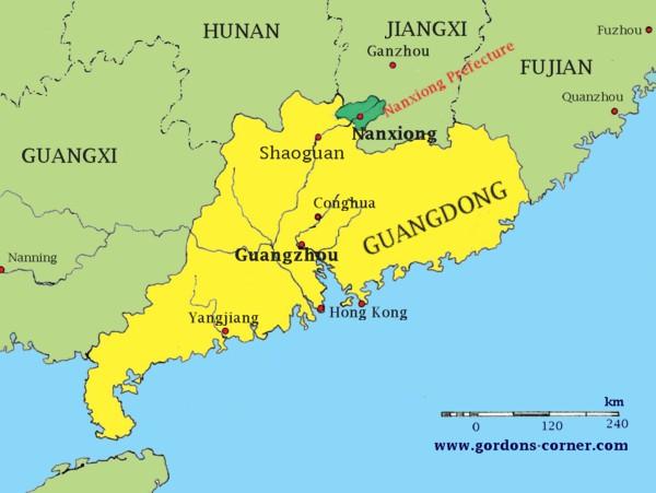 The Exodus Of Zhuji Lane - Zhuji map