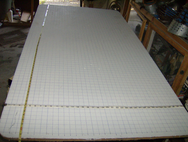 Grid table to build the Fokker D.VII