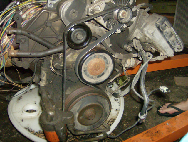 GM 3.8L engine we are modifying for use in  the Fokker D.VII
