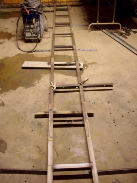 Fuselage jig welding table to build the Fokker D.VII