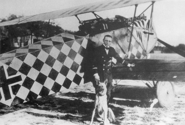 Gotthard Sachsenberg and his Fokker D.VII
