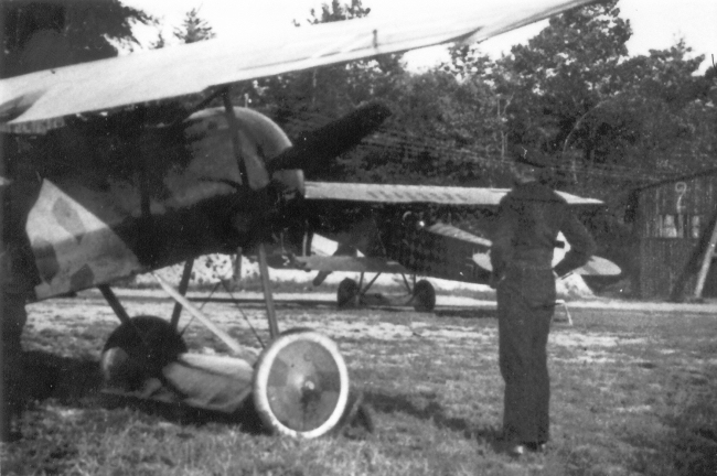 Gotthard Sachsenberg's Fokker D.VII in background