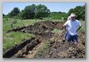 Great War Trench Construction for reenactment at Squadron Field Parsons Kansas June 2011