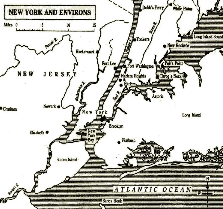 Map Of New York During American Revolution.The Role Of New York