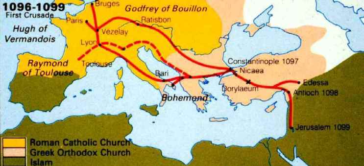 The First Crusade Had A Very Difficult Journey Getting To The - Major battles of the crusades