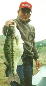 Spotted Bass Photo from Gary Yamamoto's Inside Line, My World Record Spot