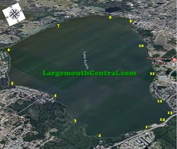 Small Lake Eustis Hot Spots Map