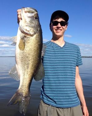 Largemouth bass catch.