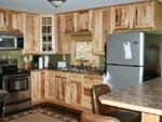 The stainless kitchen