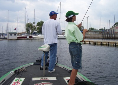 Dave Dudley and Marshall Maynard Fish The Plattsburgh Waterfront
