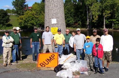 TU Saranac River Clean-up 2005