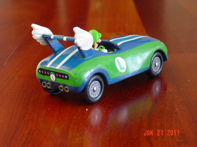 Mario Kart Pinewood Derby Template | Luigi Pinewood Derby By Bryan Keck