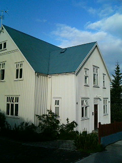I HAD the great pleasure to wake up this morning in the beautiful city of Reykjavík, Iceland. I was so glad to be back and so amazed by the morning's sunshine shimmering through the blinds that I was up out of bed, at 6.30am, to take photos of the houses surrounding the Reykjavík City Youth Hostel. Talk about jetlag -- and the effects of the Midnight Sun! -- I just didn't know what time it was, although I got to hear some alarms going off in people's bedrooms, and the sight of the occasional bleary-eyed Icelander taking their garbage out in their pyjamas, should have alerted me to how early it really was. After walking around for a bit I went back to bed, and woke up at like 10am -- and was surprised to see it was still sunny outside. In fact, it seemed to be getting sunnier and sunnier, which was cool, because I was worried it was going to rain for the whole of this, my second Icelandic holiday. But the gods were behind me again (I have always such good luck in Iceland!)