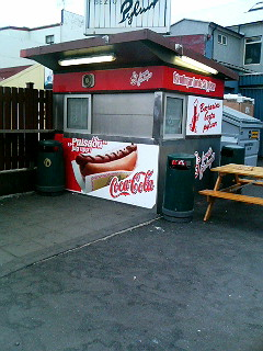 The great Bæjarins Beztu hot dog stand