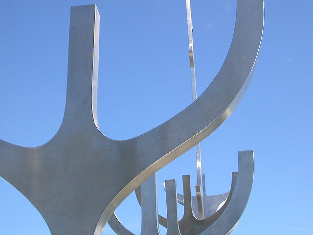 S�lfar (Sun Craft), sculpture close to the old harbour in Reykjavik, Iceland