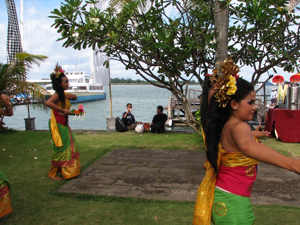 Balinese dancers welcome passengers from an Australian cruise ship to their island utopia in the Indonesian archipelago. The passenger cruise industry is booming in Australia, and elsewhere in the Asia-Pacific.