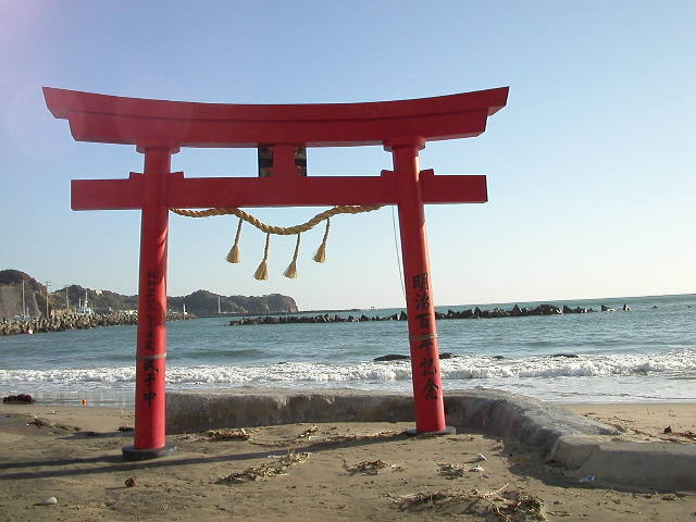 Tori'i on the beach near Katsuura, Chiba Prefecture, 2003