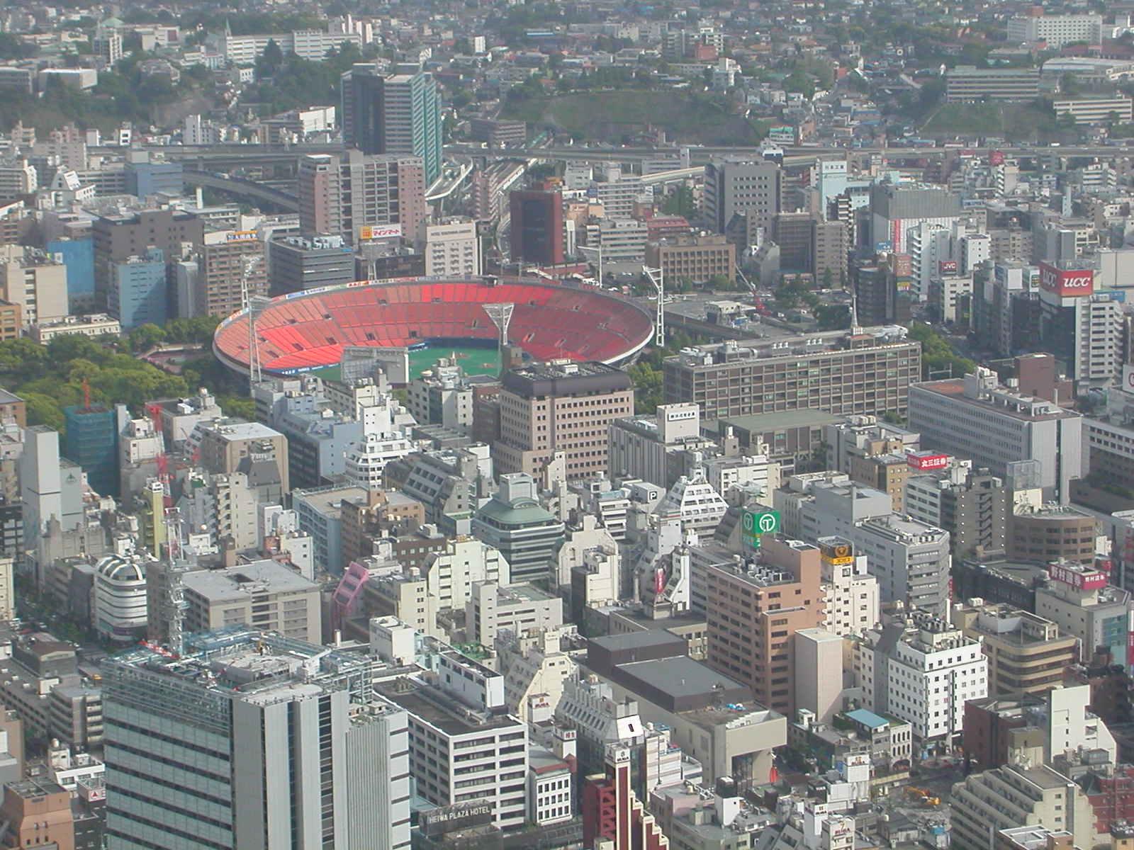 Yokohama View With Baseball Stadium