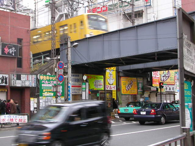 Near Takadobaba Station, in 2004