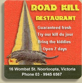 Australian Recipes -- Road Kill