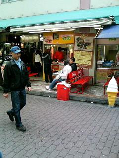 Moses's Kebab Stand in Ameyokocho, near Ueno, Tokyo Japan