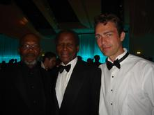 Garnet with Samuel L Jackson and Sidney Poitier at the Cannes Film Festival in France