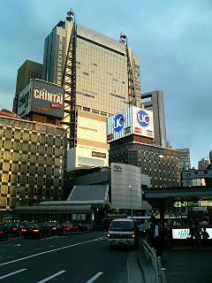 Shimbashi Skyscraper Scene in Sudden Summer Sun