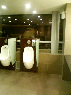 Toilets in the transit lounge of Singapore's Changi Airport