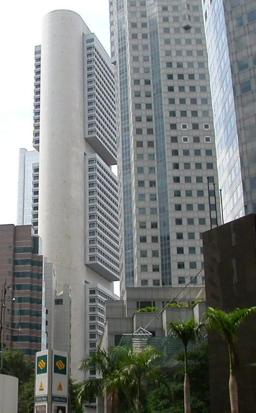 Singapore City Center near one of the ubitiquous MRT stations, January 2003