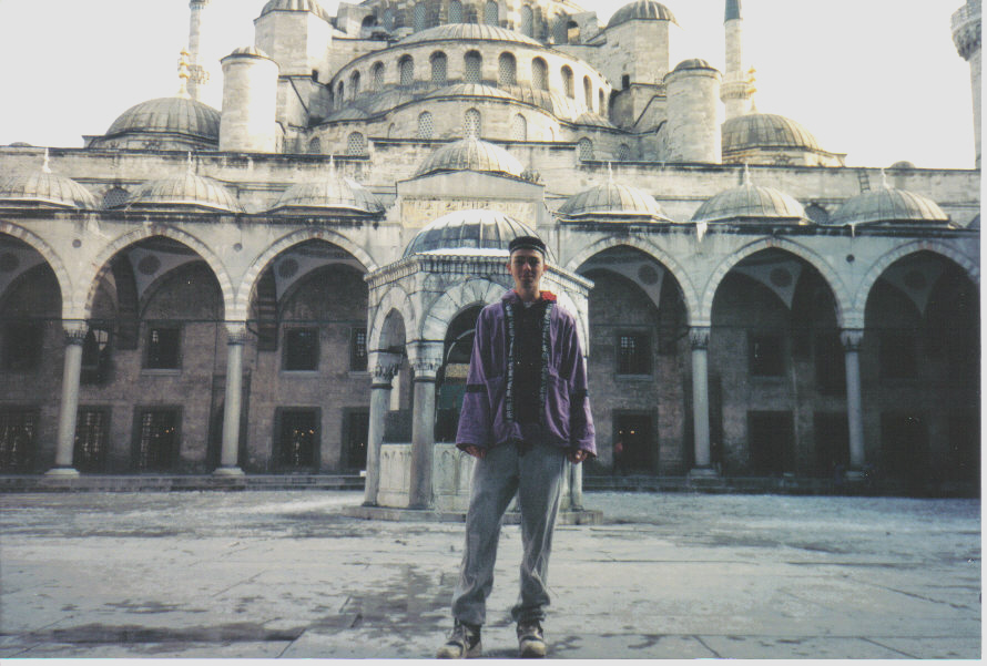 Garnet Mae, at the Hagia Sophia