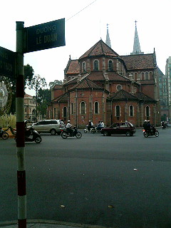 Cathedral (or Basilica) of Notre-Dame, the heart of Ho Chi Minh's Catholic faith