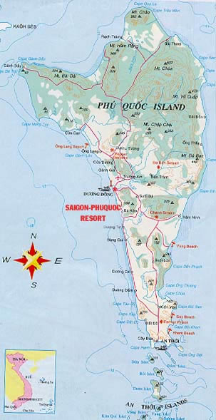 Map of Phu Quoc