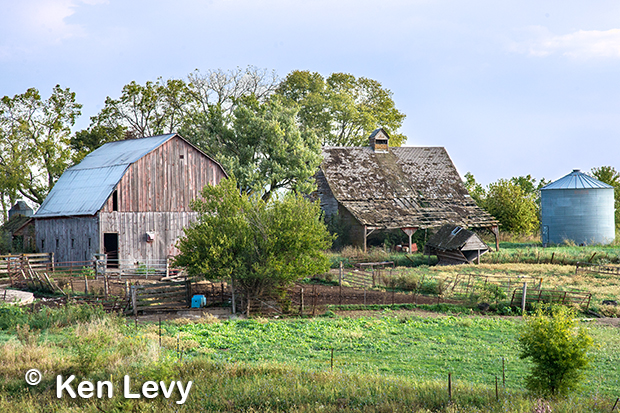 Barn with silo, Madison County