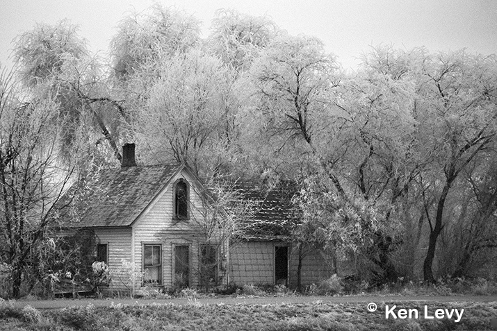 Frosted Haunted House Photograph
