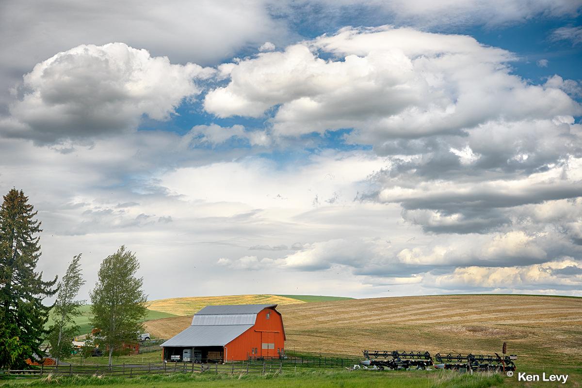 Storm clouds gathering Washington Palouse photo