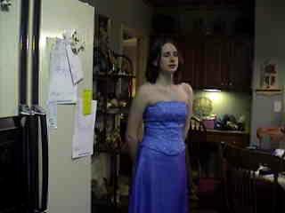 Stefanie in her prom dress.