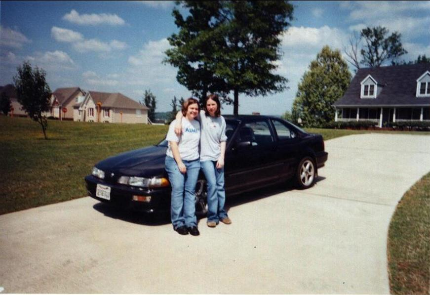 Stefanie and me before prom.