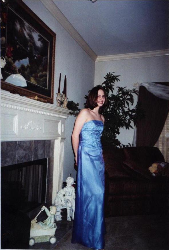 Stefanie before prom.