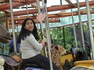 erim on the carousel.